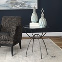 Uttermost Accent Furniture Renault Aged Steel Lamp Table