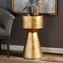 Uttermost Accent Furniture Veira Gold Accent Table