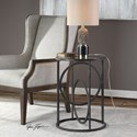 Uttermost Accent Furniture Lucien Iron Accent Table