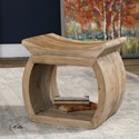 Uttermost Accent Furniture Connor Elm Accent Stool