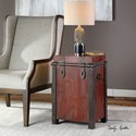 Uttermost Accent Furniture Isaac Wine Red Accent Table