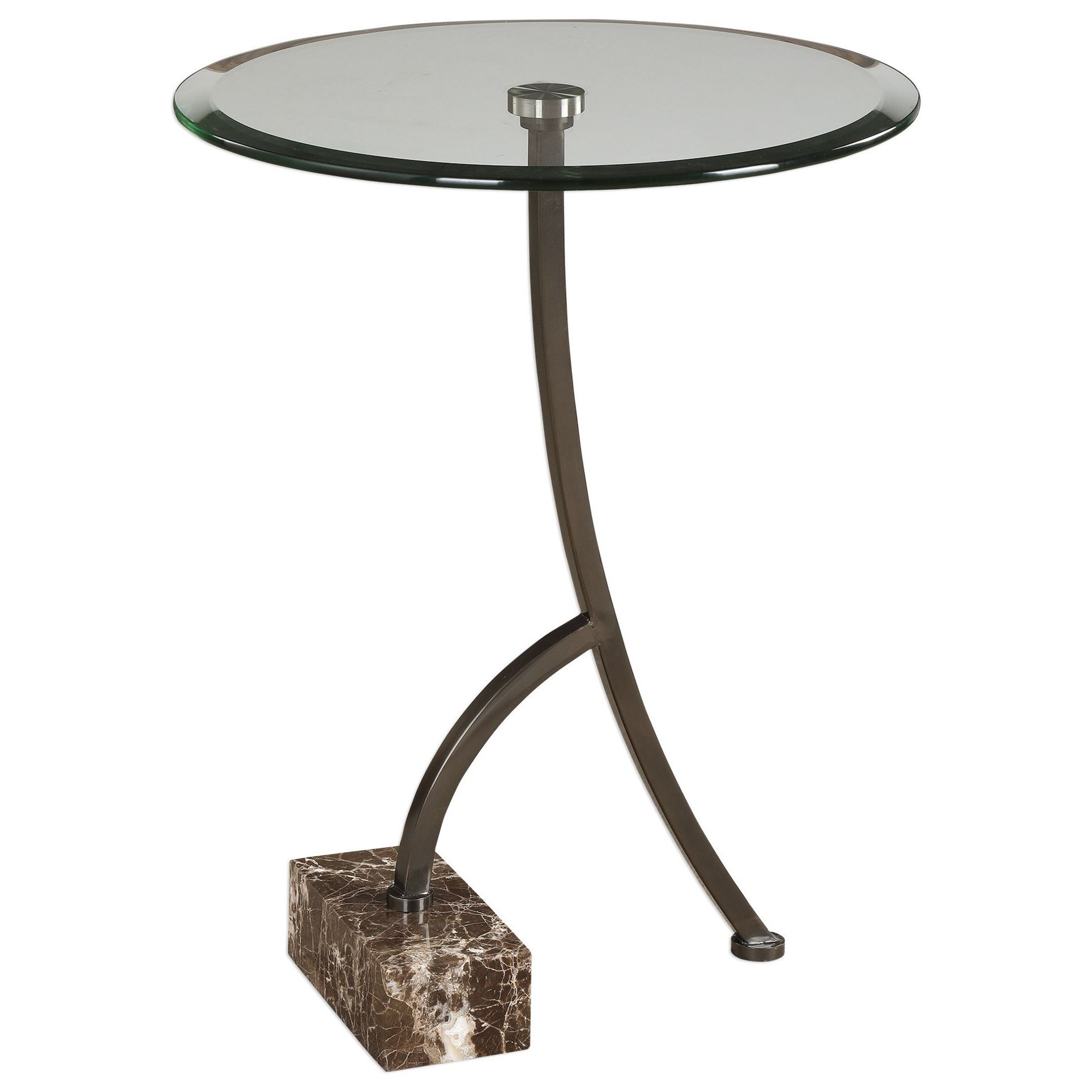 Levi Round Bronze Accent Table