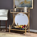 Uttermost Accent Furniture Presley Gold Bar Console