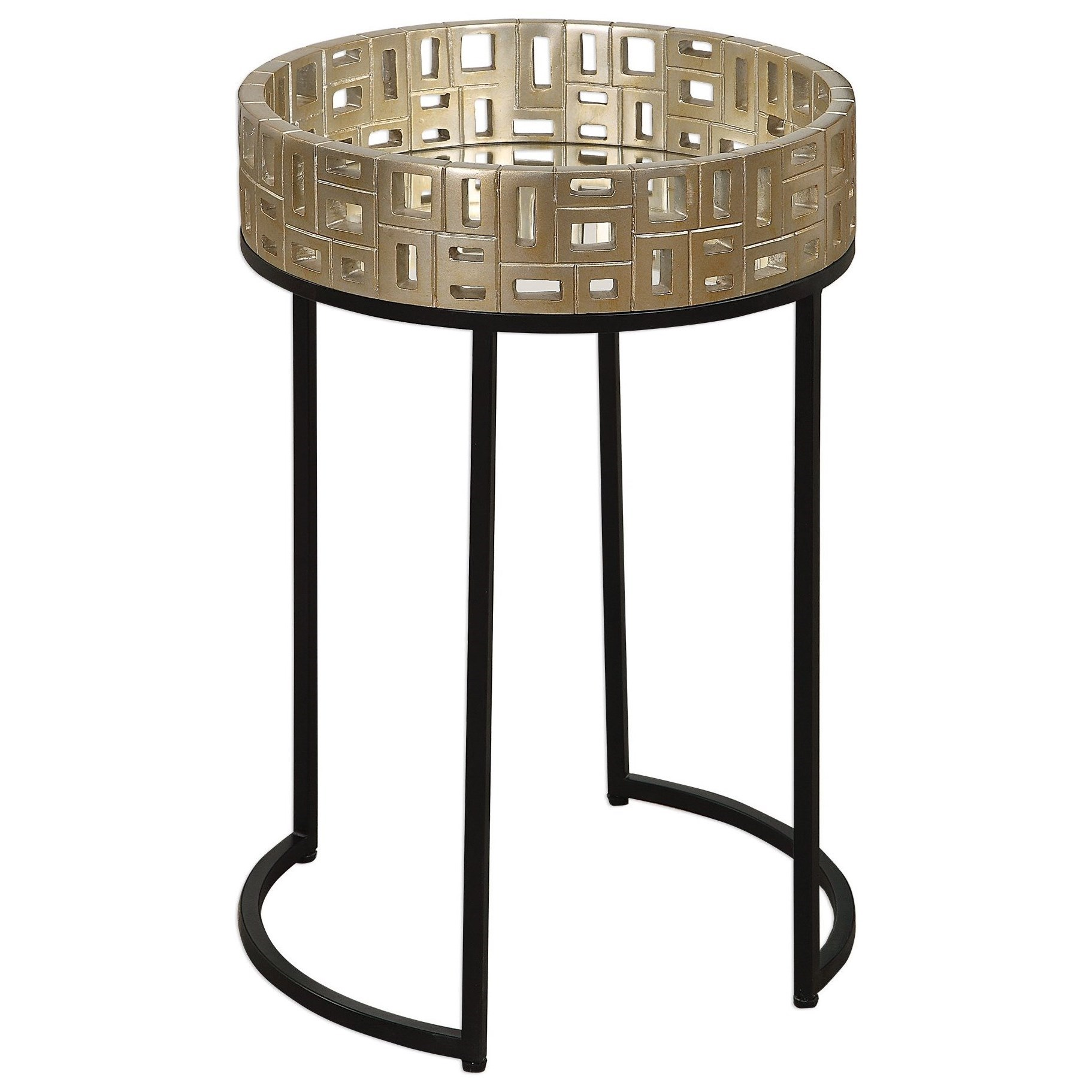 Aven Gold Accent Table