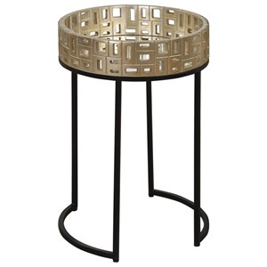 Uttermost Accent Furniture Aven Gold Accent Table