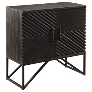 Uttermost Accent Furniture Uttermost Zadie Ebony Accent Cabinet