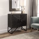 Uttermost Accent Furniture Uttermost Zadie Ebony Accent Cabinet
