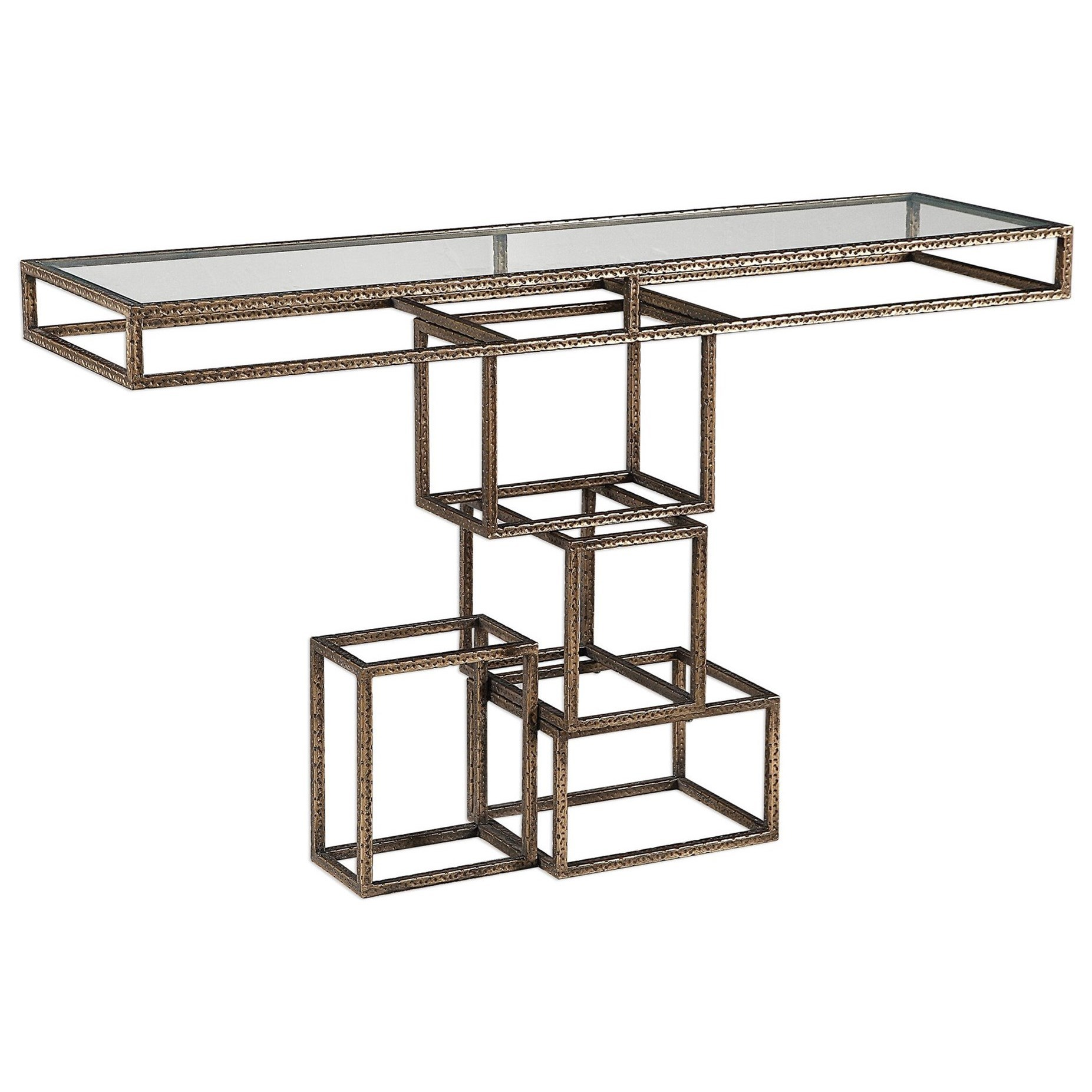 Accent Furniture - Occasional Tables Ruslan Bronze Console Table by Uttermost at Dream Home Interiors