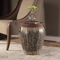 Uttermost Accent Furniture Neith Metal Drum Accent Table