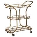 Uttermost Accent Furniture Stassi Gold Serving Cart - Item Number: 24876