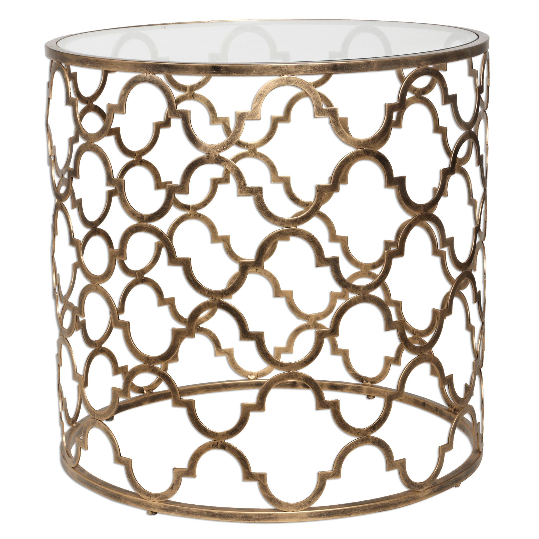 Accent Furniture - Occasional Tables Quatrefoil End Table by Uttermost at Dunk & Bright Furniture