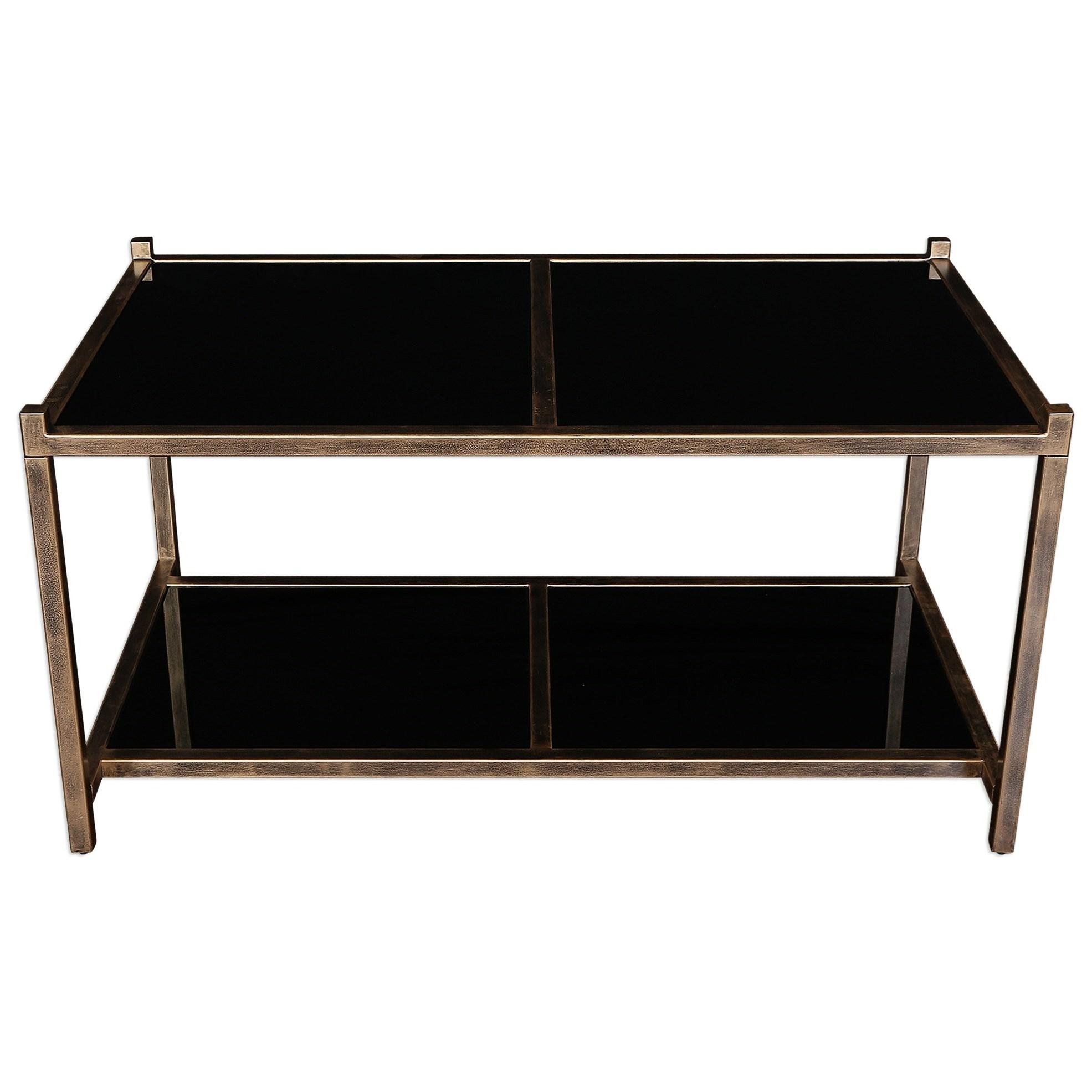 Uttermost Accent Furniture  Karol Black Glass Coffee Table - Item Number: 25018