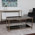 Uttermost Accent Furniture  Karol Black Glass Coffee Table