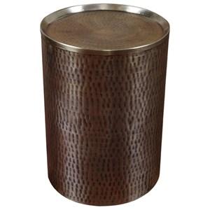 Uttermost Accent Furniture Halian Hammered Golden Bronze Accent Table