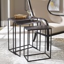 Uttermost Accent Furniture Coreene Iron Nesting Tables S/3