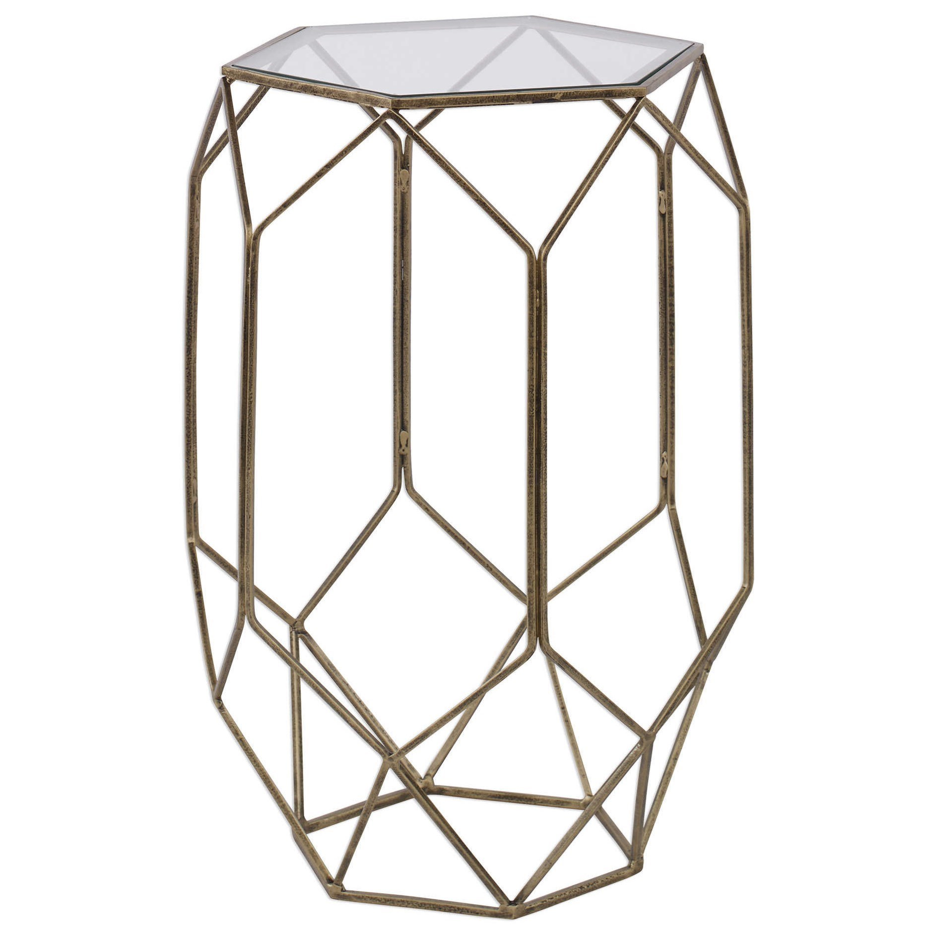 Accent Furniture - Occasional Tables Sanders Contemporary Accent Table by Uttermost at Upper Room Home Furnishings