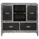 Uttermost Accent Furniture - Chests Shawn Black Leather Accent Chest - Item Number: 25305