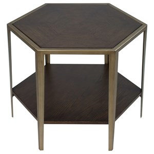 Uttermost Accent Furniture Alicia Geometric Accent Table