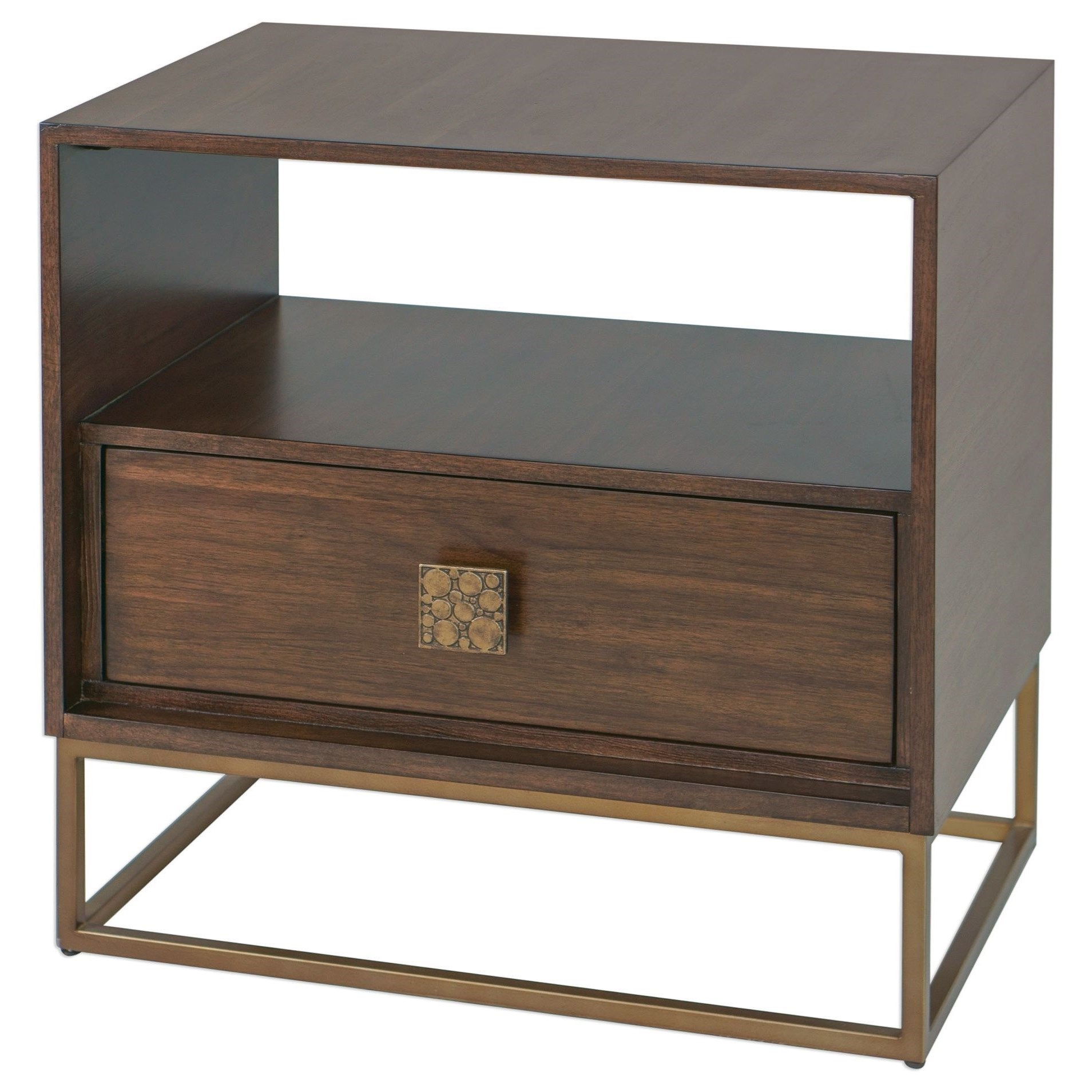 Accent Furniture - Occasional Tables Bexley Walnut Side Table by Uttermost at Goffena Furniture & Mattress Center