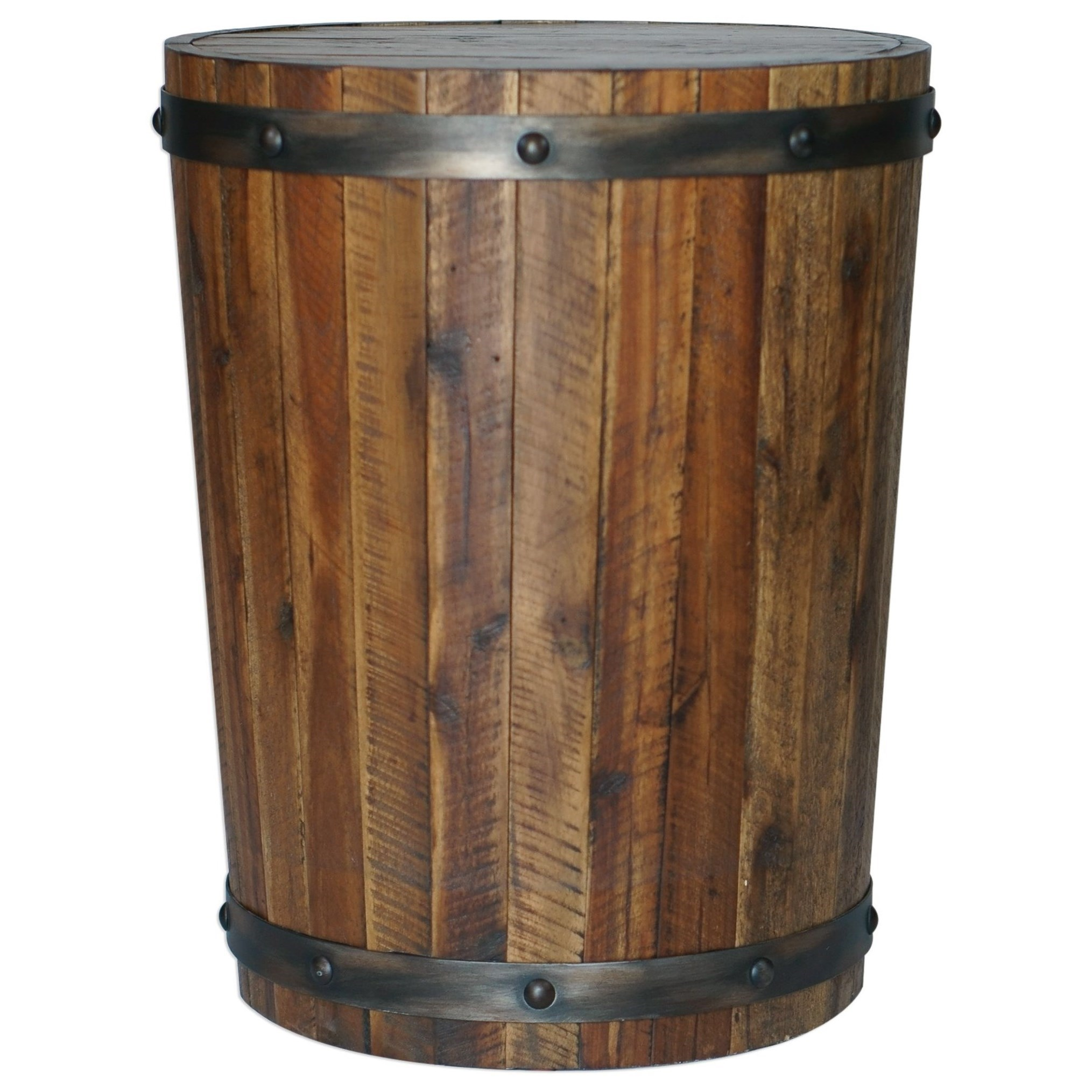 Ceylon Wine Barrel Accent Table