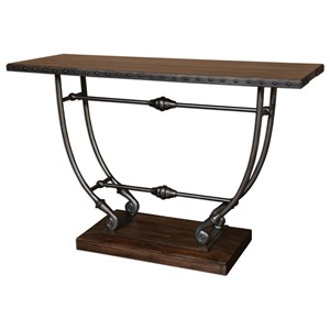 Uttermost Accent Furniture Matias Walnut Console Table