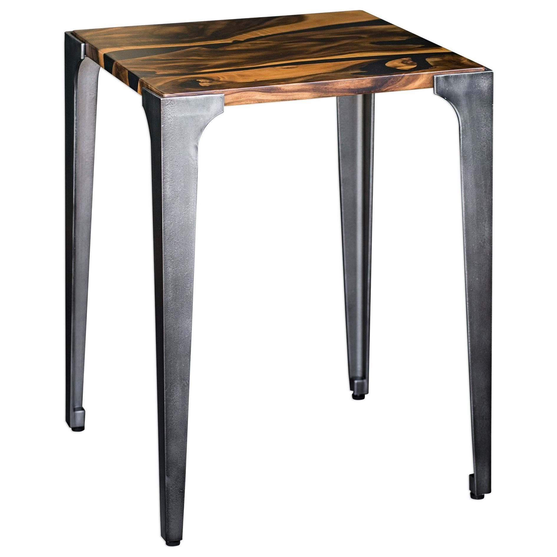 Accent Furniture - Occasional Tables Mira Acacia Side Table by Uttermost at Del Sol Furniture