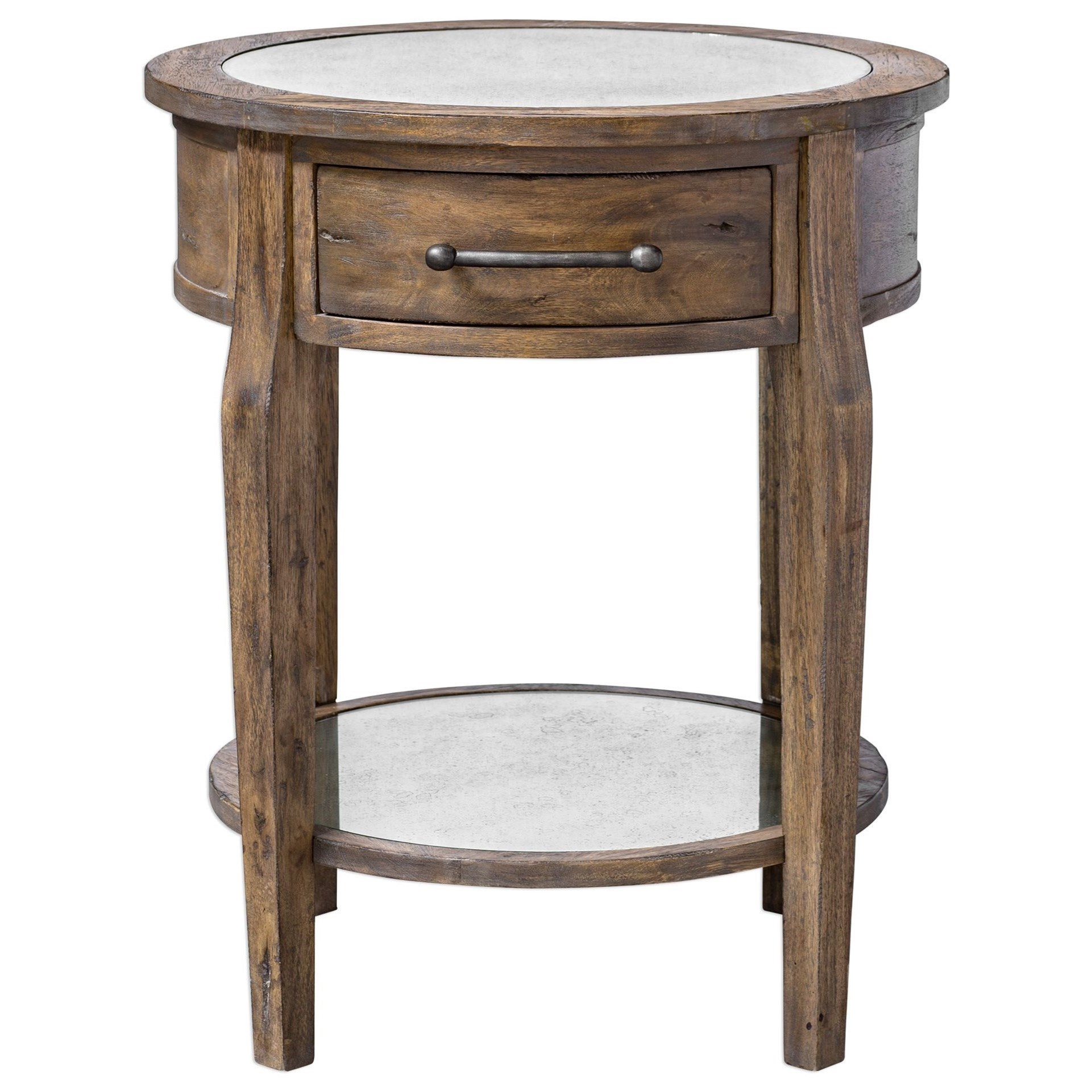 Accent Furniture - Occasional Tables Raelynn Wood Lamp Table by Uttermost at Goffena Furniture & Mattress Center