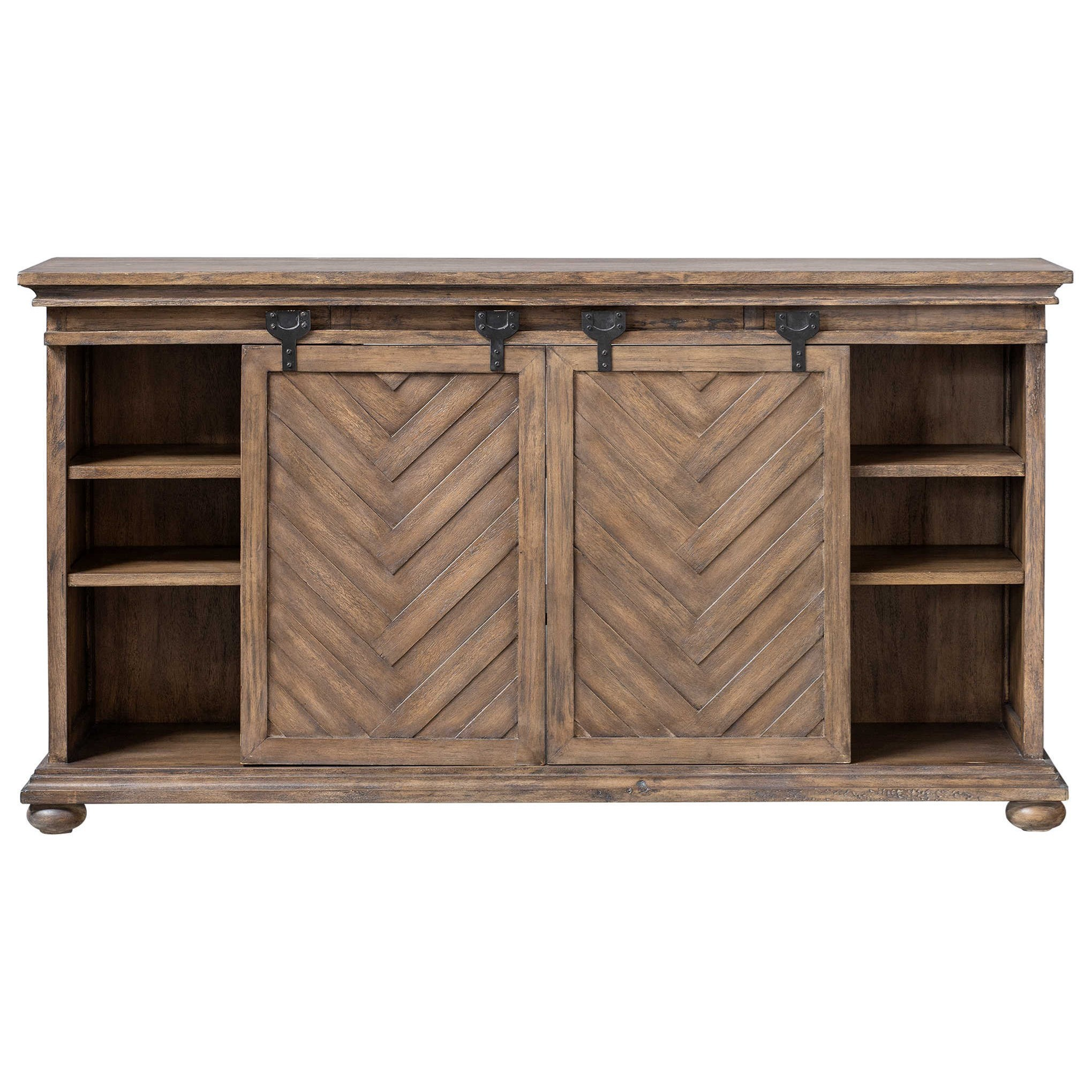 Accent Furniture Primalia Barn Door Media Console by Uttermost at Reid's Furniture