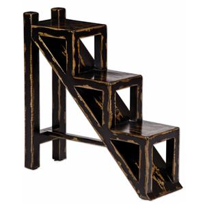 Uttermost Accent Furniture Asher Black Accent Table