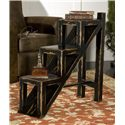 Uttermost Accent Furniture Asher Black Accent Table with Stair and Ladder Design