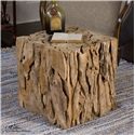 Uttermost Accent Furniture Teak Root Bunching Cube