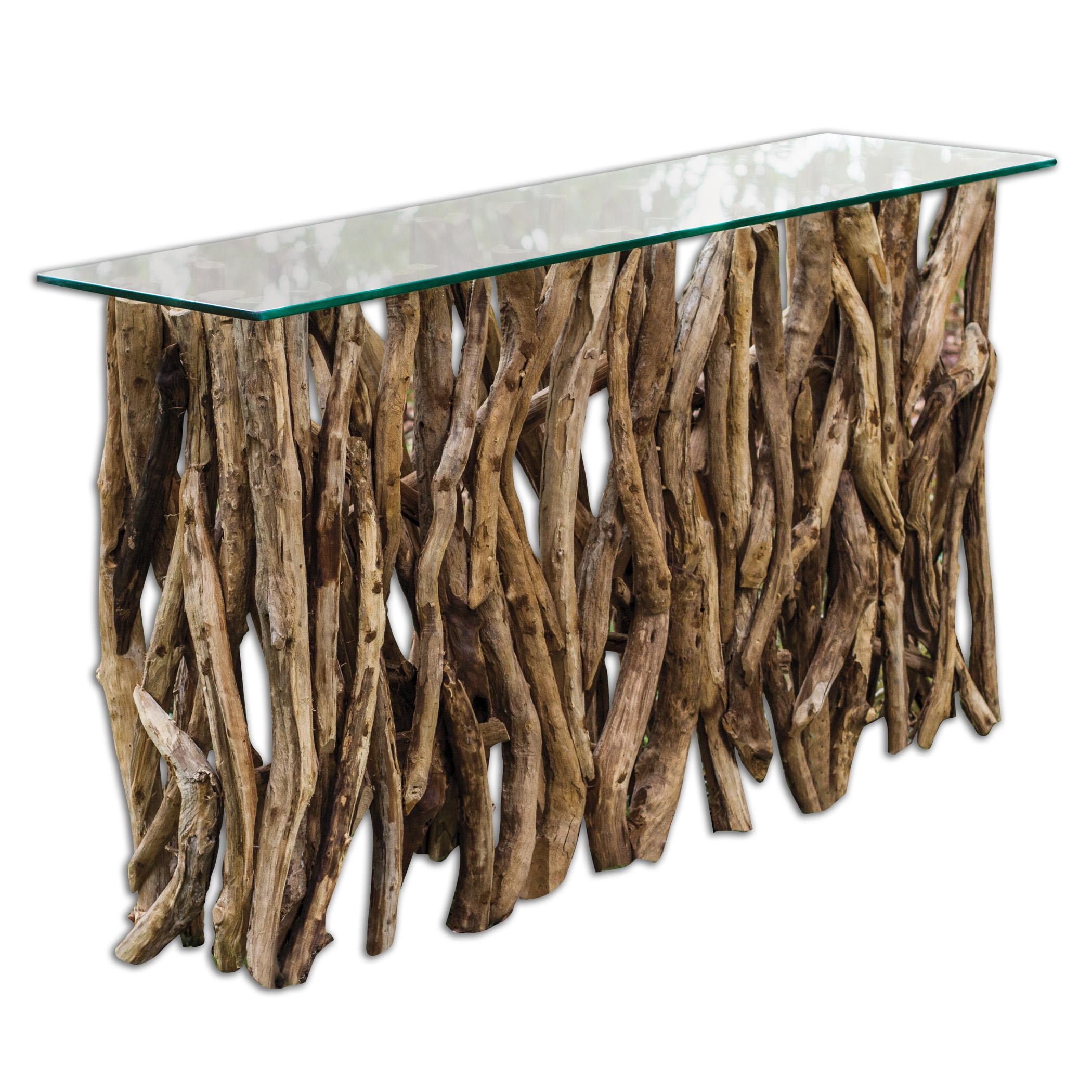 Accent Furniture - Occasional Tables Teak Wood Console by Uttermost at Upper Room Home Furnishings