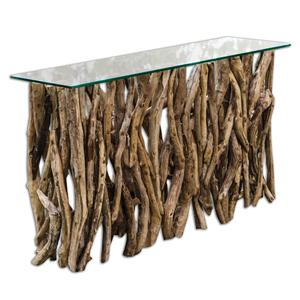 Uttermost Accent Furniture Teak Wood Console