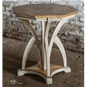 Uttermost Accent Furniture Ranen Aged White Accent Table