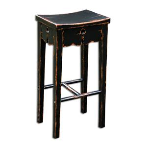Uttermost Accent Furniture Dalit Black Bar Stool