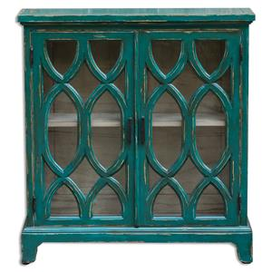 Uttermost Accent Furniture Theona Azure Blue Console Cabinet