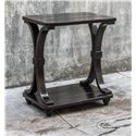 Uttermost Accent Furniture Jomei Rubbed Black Accent Table