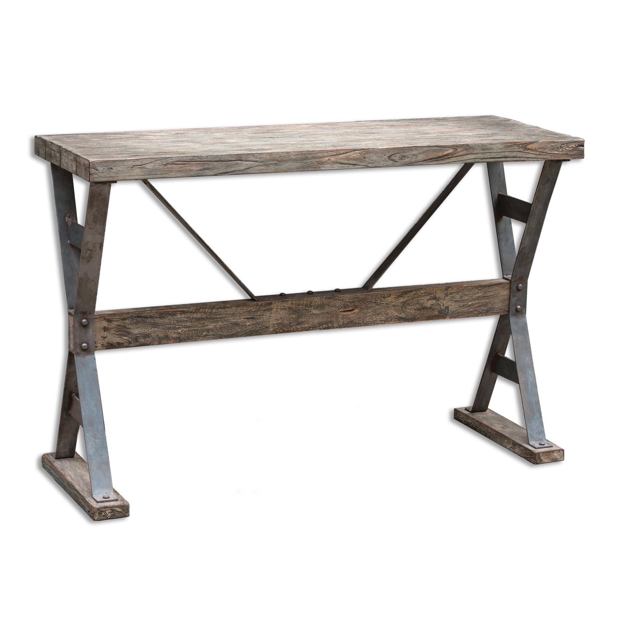 Uttermost Accent Furniture Makoto Wooden Industrial Sofa Table - Item Number: 25656
