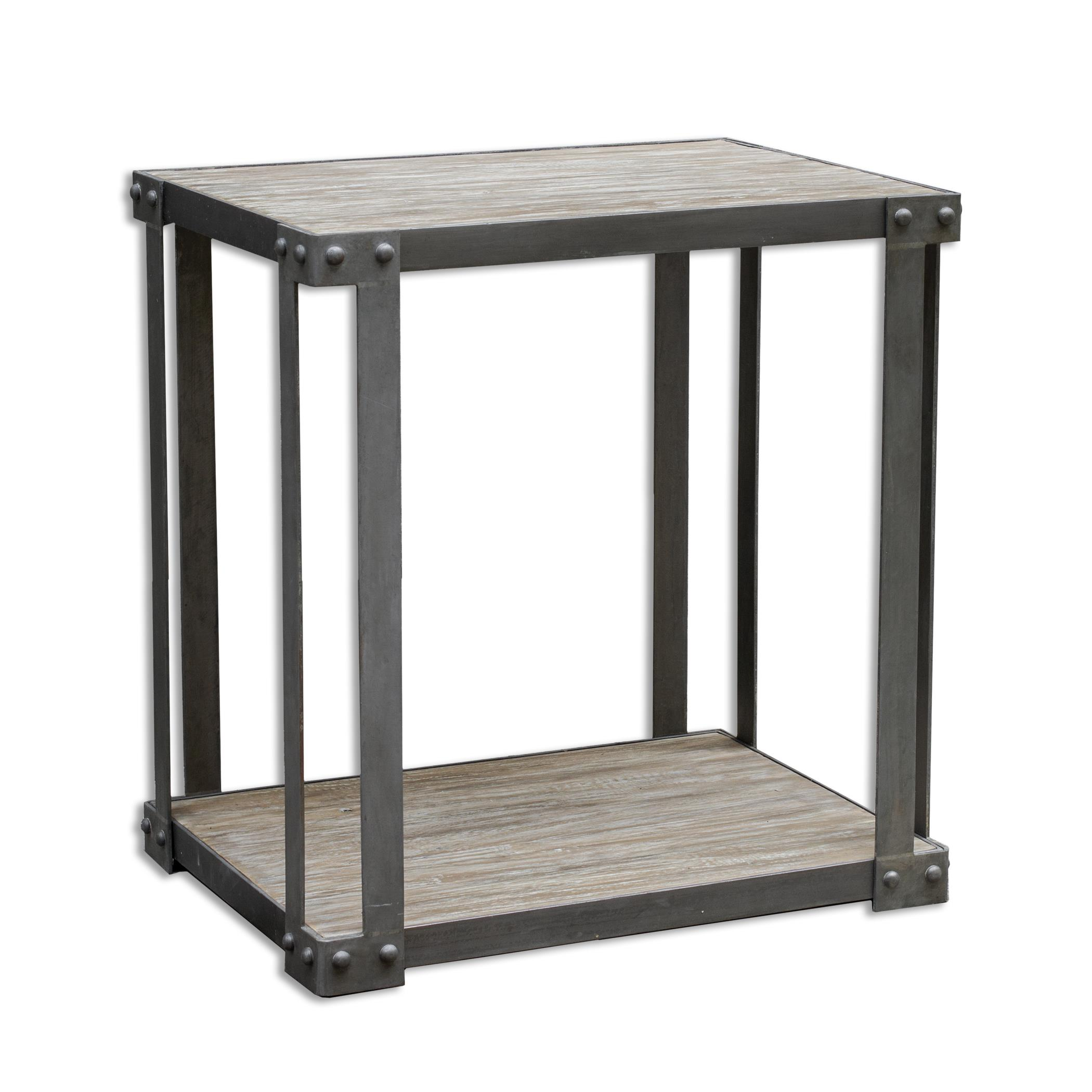 Uttermost Accent Furniture Makoto Industrial Side Table - Item Number: 25657