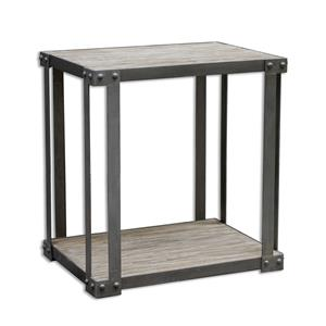 Uttermost Accent Furniture Makoto Industrial Side Table