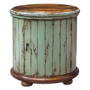 Uttermost Accent Furniture Axelle Wooden Drum Accent Table