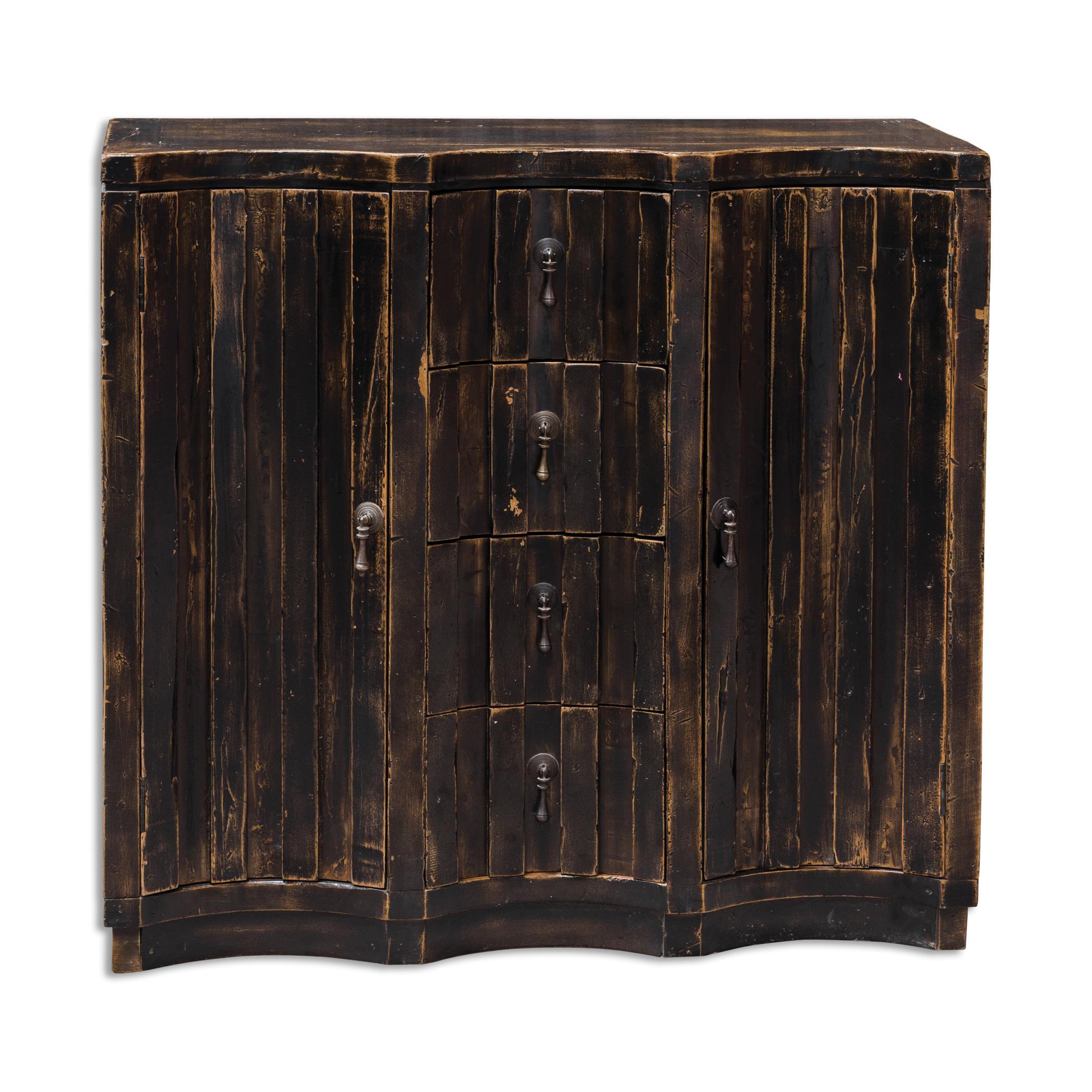 Uttermost Accent Furniture Edeline Black Buffet Chest - Item Number: 25665