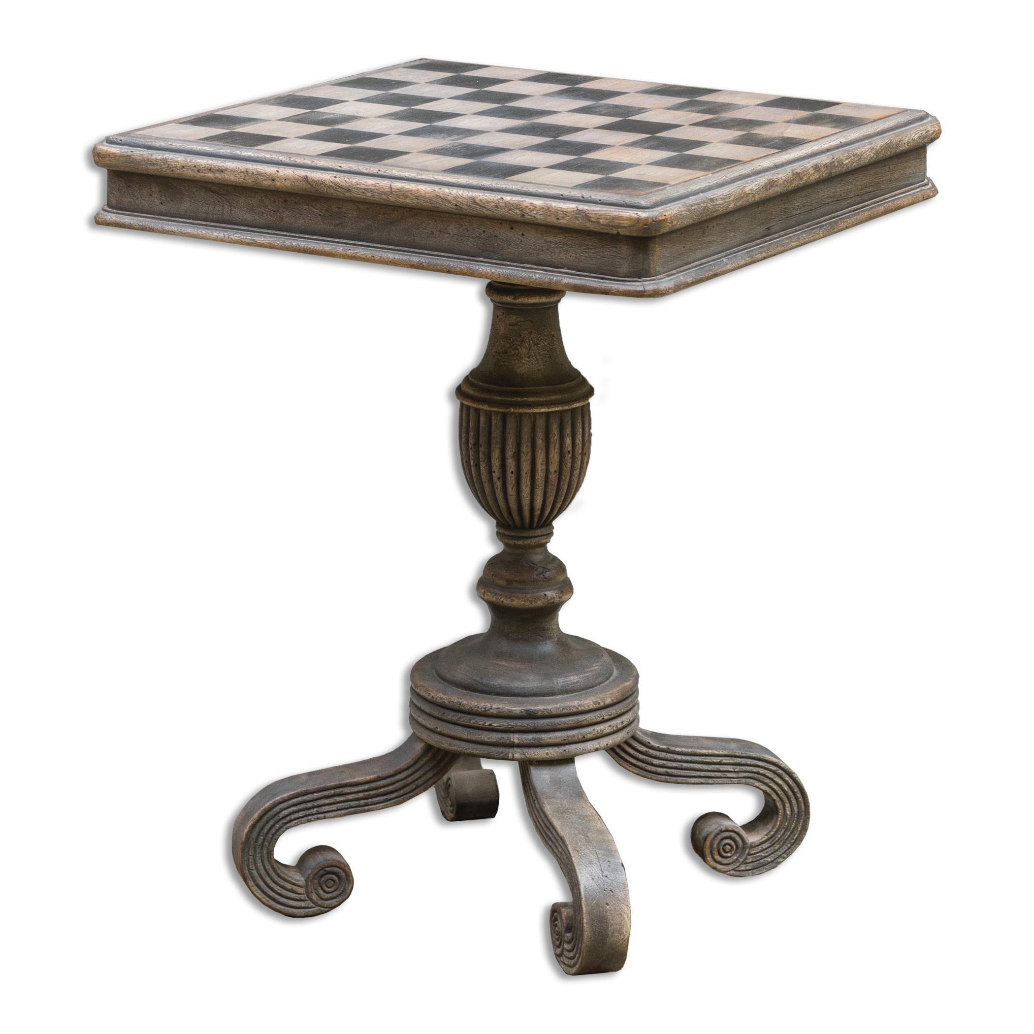 Uttermost Accent Furniture Gwennan Wooden Game Table - Item Number: 25670