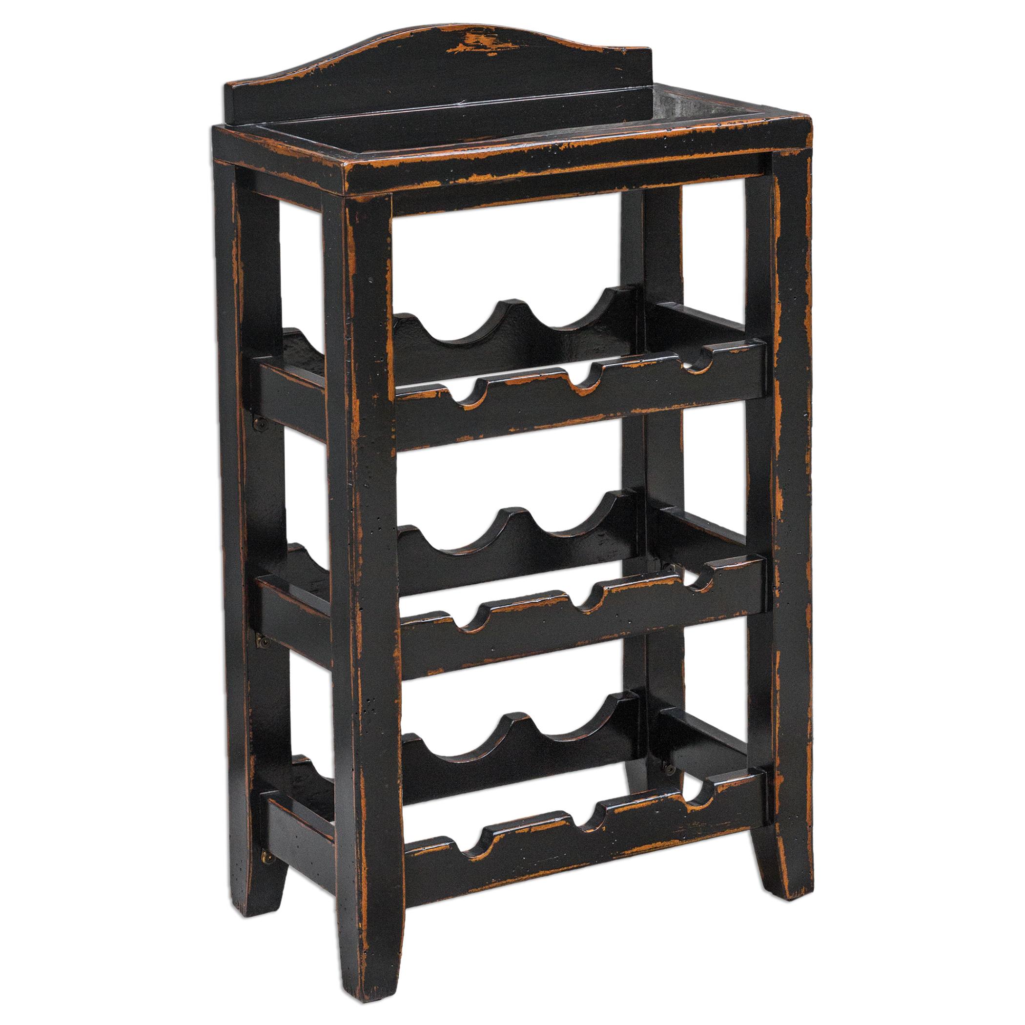 Uttermost Accent Furniture Halton Wine Rack Table - Item Number: 25672
