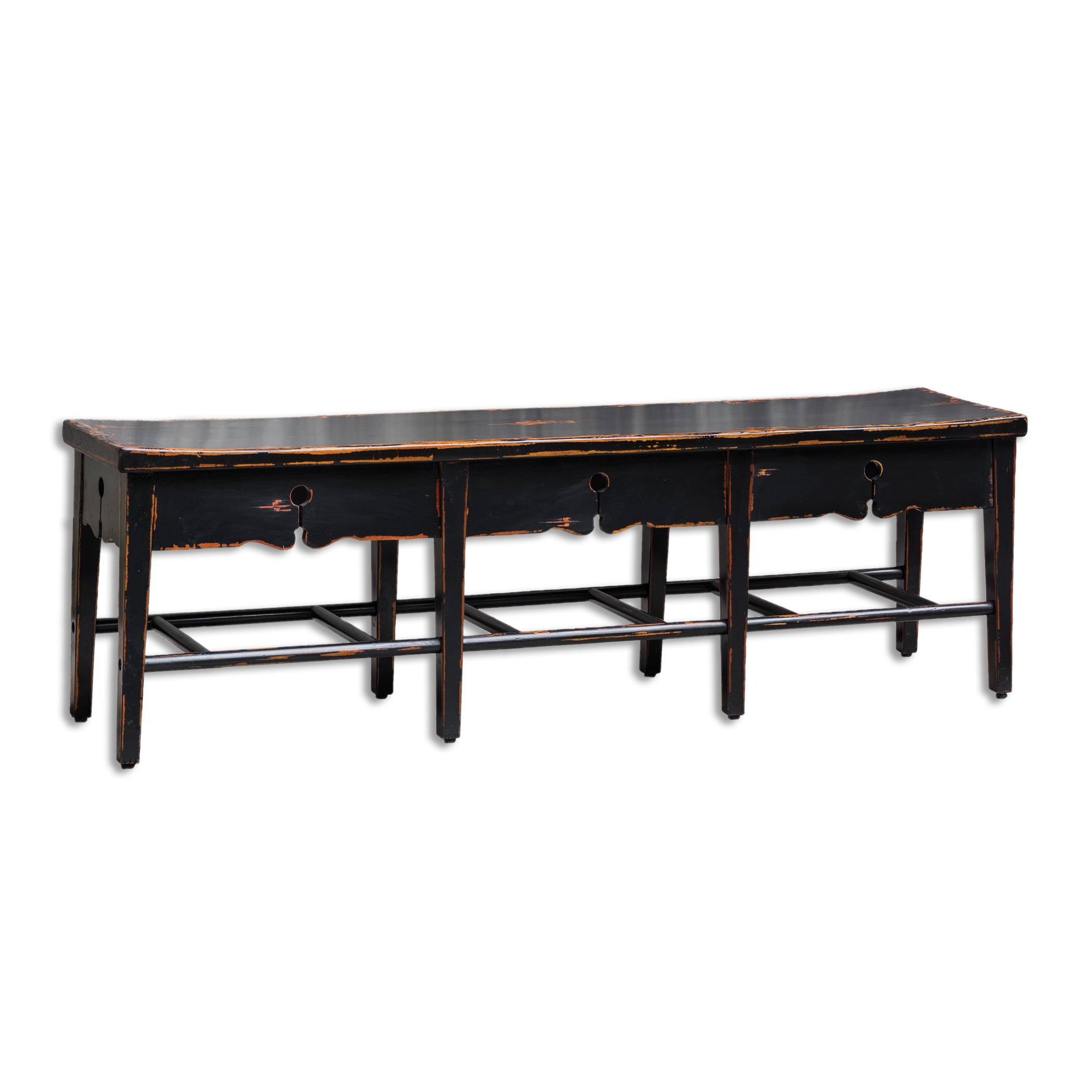 Uttermost Accent Furniture Dalit Mahogany 3-Seat Bench - Item Number: 25683