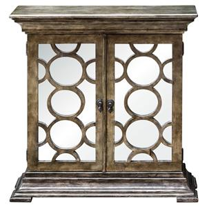 Uttermost Accent Furniture Glasson Mirrored Console Cabinet