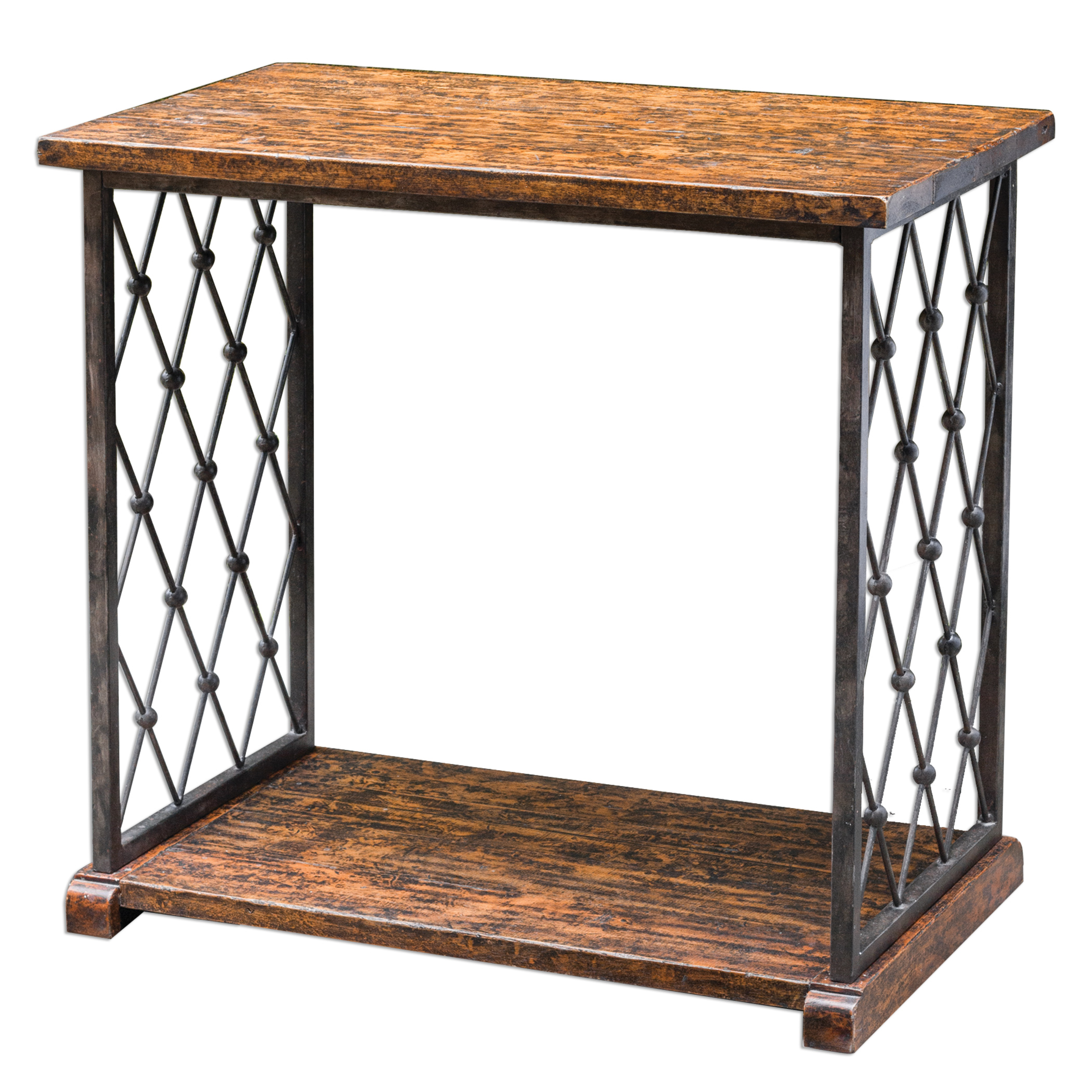 Uttermost Accent Furniture Castalia Aged Wood Side Table - Item Number: 25691