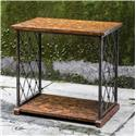 Uttermost Accent Furniture Castalia Aged Wood Side Table