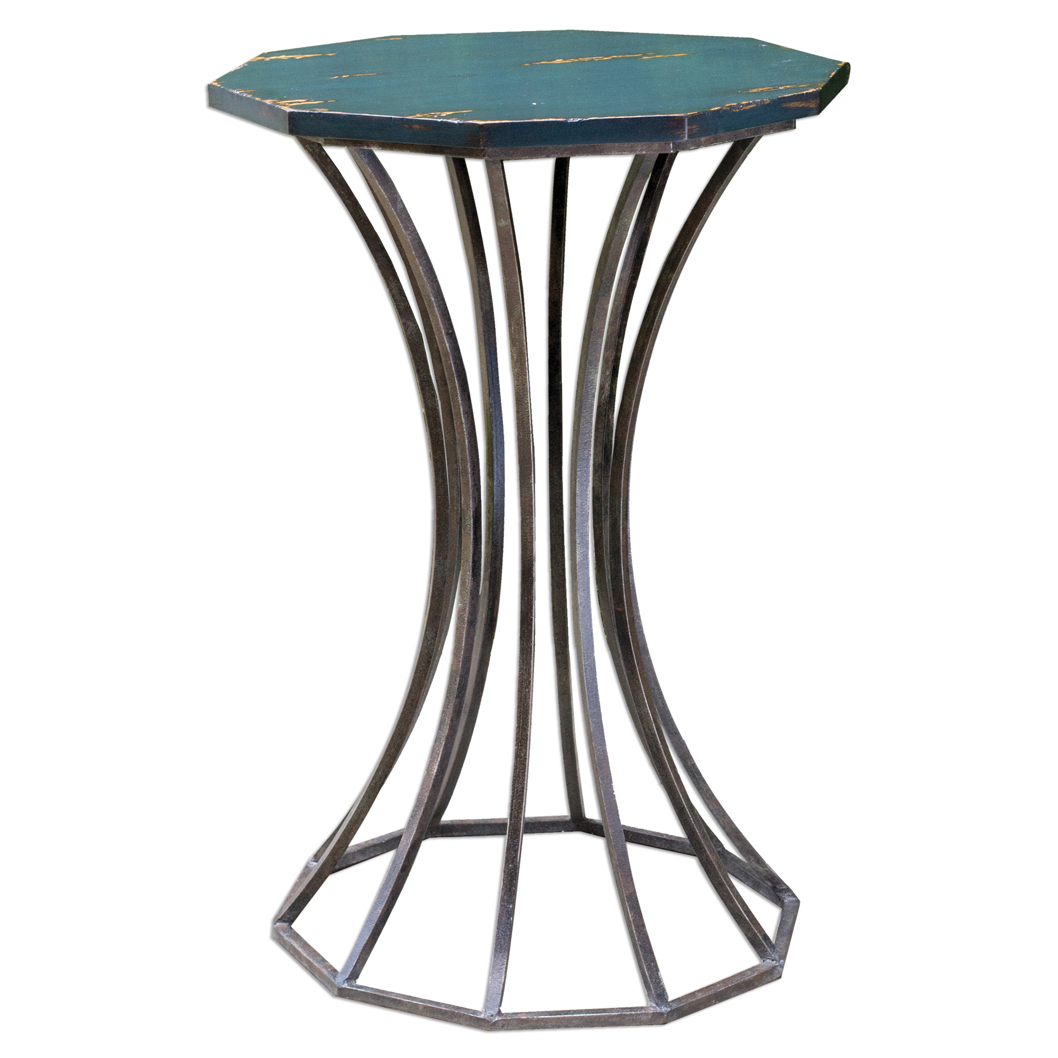 Uttermost Accent Furniture Vika Navy Blue Accent Table - Item Number: 25696