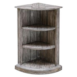 Uttermost Accent Furniture Manon Wooden Corner Shelf